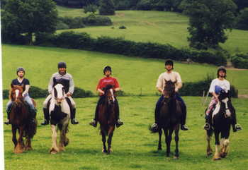 horse riding north wales
