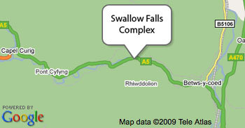 Map to Swallow Falls Complex